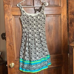 Nine West Cotton Print Dress NWOT Sz 2